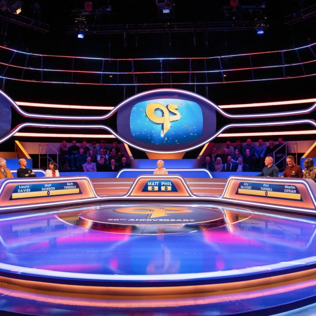 Programme Name: A Question of Sport: 50 Not Out - TX: 03/01/2020 - Episode: A Question of Sport: 50 Not Out (No. n/a) - Picture Shows: Laura Davies, Matt Dawson, Beth Tweddle, Sue Barker, Ally McCoist, Phil Tufnell, Martin Offiah - (C) BBC - Photographer: James Stacks